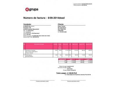 Faktura Po Hiszpańsku Program Afakturypl