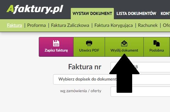 8cd75e4f50df7 Wysyłka dokumentów na emaila - Funkcje faktury - program afaktury.pl
